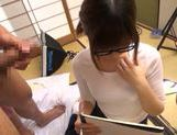 Young Japanese babe gives wild oral satisfaction