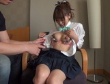 Horny Japanese gets her pussy drilled hard picture 12