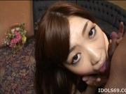 Karin Kusunoki Lovely Asian doll gives an excellent blow job