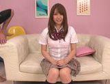 Frisky Japanese schoolgirl Kazuha Mukai enjoys pussy licking