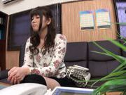 Pretty Asian milf Aina Shirahane gives head and swallows