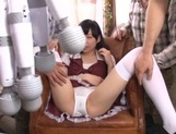 Dirty gang bang with young Asian girl Mirai picture 14