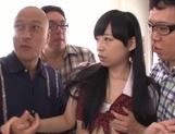 Dirty gang bang with young Asian girl Mirai
