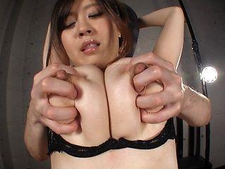 Horny Asian milf with tantalizing huge boobs Nana Aoyama enjoys titfuck