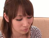 Alluring Asian redhead Shibuya Arisu makes titfuck and engulfs rod picture 12