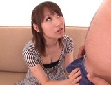 Alluring Asian redhead Shibuya Arisu makes titfuck and engulfs rodcute asian, japanese pussy}