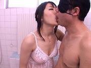 Alluring Japanese milf Mikuri Kawai sucks long hard dickasian girls, japanese pussy}