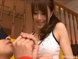 Akiho Yoshizawa Asian model ties up her boyfriend for some hot sex