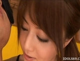 Akiho Yoshizawa Asian model ties up her boyfriend for some hot sex picture 4
