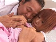 Japanese AV model Sexy Asian nurse rides a hard cock