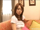 Akiho Yoshizawa Naughty Asian model masturbates before getting a fucking picture 15