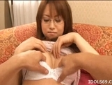 Akiho Yoshizawa Naughty Asian model masturbates before getting a fucking