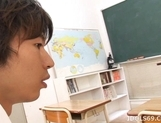 Asahi Miura Sexy Asian teacher enjoys sex with her horny students picture 3