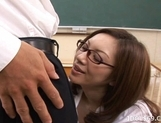 Asahi Miura Sexy Asian teacher enjoys sex with her horny students picture 5