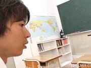 Asahi Miura Sexy Asian teacher enjoys sex with her horny students