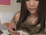 Pink pussy of Tsuma Kimura is hammered hard picture 1