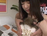 Pink pussy of Tsuma Kimura is hammered hard picture 2