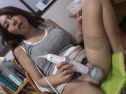 Hot amazing Japanese babe Sakiko Mihara plays with her slitcute asian, hot asian pussy}