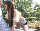 Busty Asian teen Ai Nakaidou fucking in the park picture 10