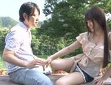 Busty Asian teen Ai Nakaidou fucking in the park picture 14