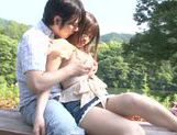 Busty Asian teen Ai Nakaidou fucking in the park picture 15