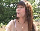 Busty Asian teen Ai Nakaidou fucking in the park picture 3