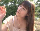 Busty Asian teen Ai Nakaidou fucking in the park picture 4