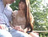 Busty Asian teen Ai Nakaidou fucking in the park picture 5