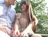 Busty Asian teen Ai Nakaidou fucking in the park picture 6