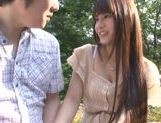Busty Asian teen Ai Nakaidou fucking in the park picture 7