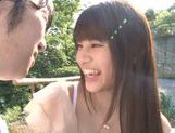 Busty Asian teen Ai Nakaidou fucking in the park picture 9