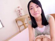 Dark-haired Asian teen Yonamine Sakura enjoys every inch
