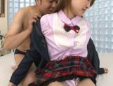 Petite Asian teen Momoka Ariyoshi enjoying a hard fuck picture 14
