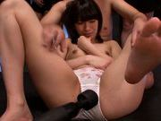Skinny teen Ruri Narumiya gets banged in group porn