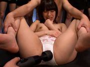 Skinny teen Ruri Narumiya gets banged in group pornasian pussy, japanese porn}
