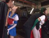 Naughty Japanese teen models enjoy wild group action picture 12
