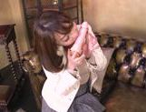 Alluring Japanese chick pokes pussy with a sex toy