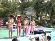 Asian teens Uta Kohaku, Hibiki Otsuki and their friends in hardcore bang