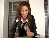 Talented Japanese milf makes hardcore anal insertion picture 11