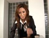 Talented Japanese milf makes hardcore anal insertion picture 12