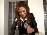 Talented Japanese milf makes hardcore anal insertion picture 13