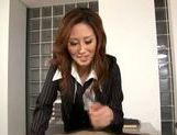 Talented Japanese milf makes hardcore anal insertion picture 14