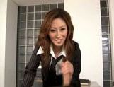 Talented Japanese milf makes hardcore anal insertion picture 15