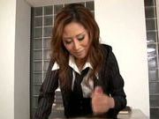 Talented Japanese milf makes hardcore anal insertion
