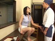 Luscious AV model Kaori Otonashi spreads legs for hard fuck