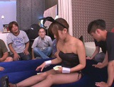 Party playgirl Kokone Mizutani enjoys gangbag gets tons of facial picture 12