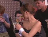 Party playgirl Kokone Mizutani enjoys gangbag gets tons of facial