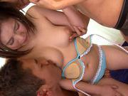Airi teen Asian chick blows two guys for funjapanese sex, cute asian, asian babe}