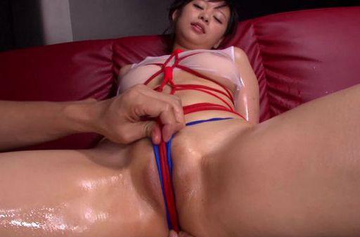 Oiled body of hot Japanese MILF Ryohana Asakura