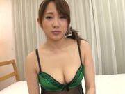 Sexy AV model Misa Kudou gets plowed and drinks cum